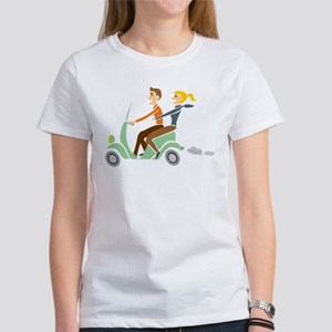 Scooter Retro Couple Women's T-Shirt