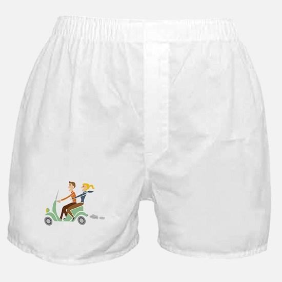 Scooter Retro Couple Boxer Shorts