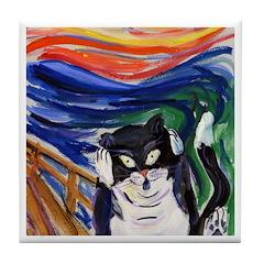 Kitty Scream Tile Coaster