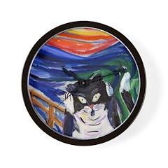 Kitty Scream Wall Clock