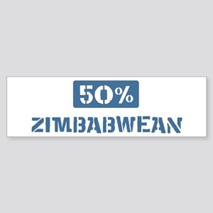 50 Percent Zimbabwean Bumper Sticker