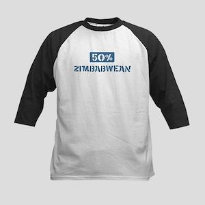 50 Percent Zimbabwean Kids Baseball Jersey