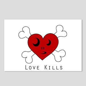 Love Kills...so hang it Postcards (Package of 8)