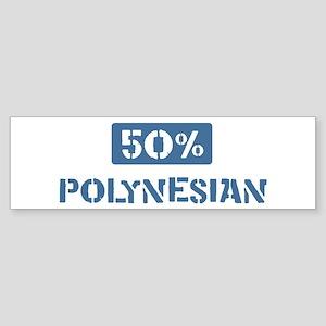 50 Percent Polynesian Bumper Sticker