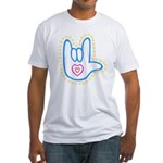 Blue Bold Love Hand Fitted T-Shirt