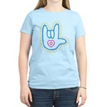 Blue Bold Love Hand Women's Light T-Shirt