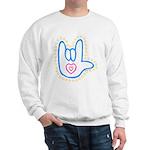 Blue Bold Love Hand Sweatshirt