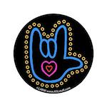 Blue Bold Love Hand Black 3.5