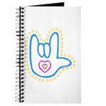 Blue Bold Love Hand Journal