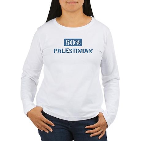 50 Percent Palestinian Women's Long Sleeve T-Shirt