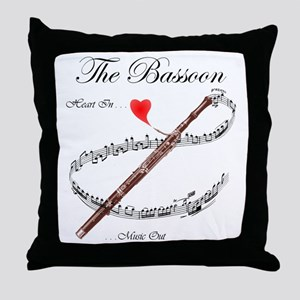 The Bassoon Throw Pillow