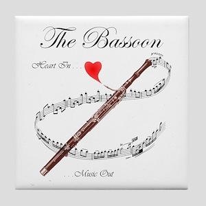 The Bassoon Tile Coaster