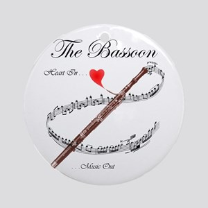 The Bassoon Ornament (Round)