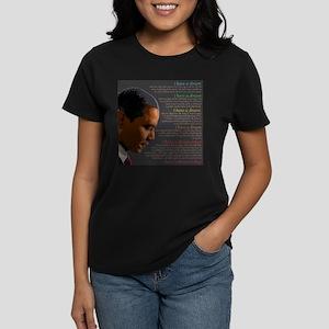 Obama / I Have a Dream Women's Dark T-Shirt