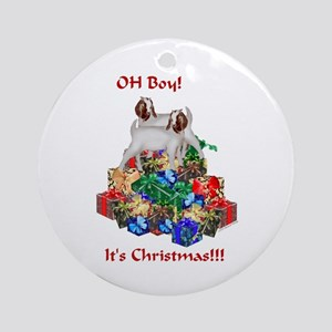 It's a Boer Goat Christmas 2005 Ornament (Round)