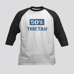 50 Percent Tibetan Kids Baseball Jersey