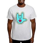 Aqua Bold Love Hand Light T-Shirt