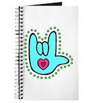 Aqua Bold Love Hand Journal
