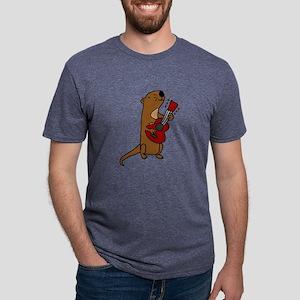 Sea Otter Playing Guitar T-Shirt