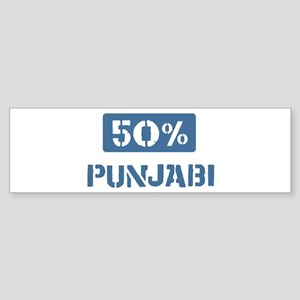 50 Percent Punjabi Bumper Sticker