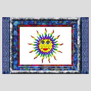 """Rainbow Sun - BIG Poster - 35""""x23"""""""