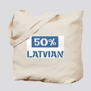 50 Percent Latvian Tote Bag