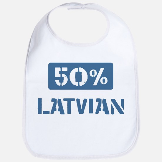 50 Percent Latvian Bib