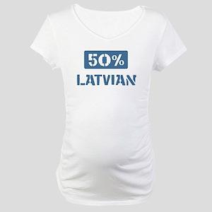 50 Percent Latvian Maternity T-Shirt