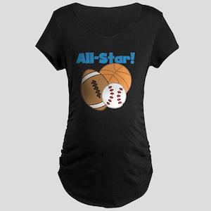 All Star Sports Maternity Dark T-Shirt