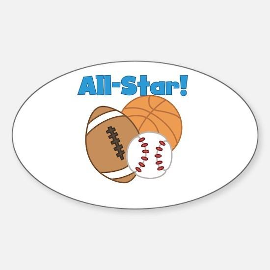 All Star Sports Sticker (Oval)