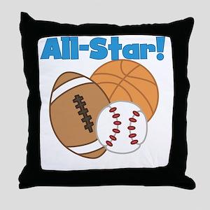 All Star Sports Throw Pillow