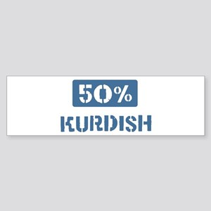 50 Percent Kurdish Bumper Sticker