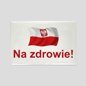 Polish Na zdrowie Rectangle Magnet