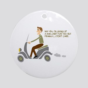 Scooter Retro Boy Ornament (Round)