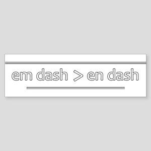 Punctuation Geek - Bumper Sticker