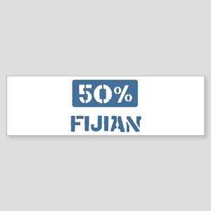 50 Percent Fijian Bumper Sticker