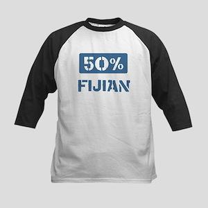 50 Percent Fijian Kids Baseball Jersey