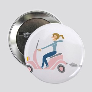 """Scooter Girl 2.25"""" Button"""