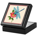 Dragonfly & Wild Rose Keepsake Box