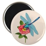 Dragonfly & Wild Rose Magnet