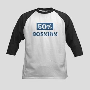 50 Percent Bosnian Kids Baseball Jersey