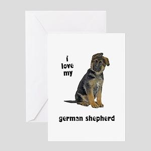 German Shepherd Love Greeting Card