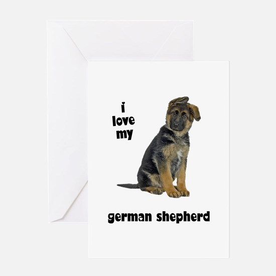 German Shepherd Love Greeting Card