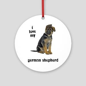 German Shepherd Love Ornament (Round)