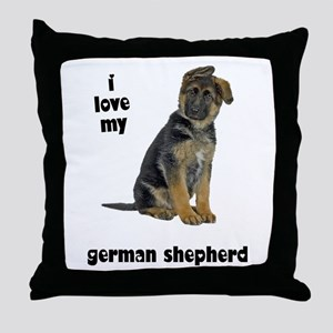 German Shepherd Love Throw Pillow