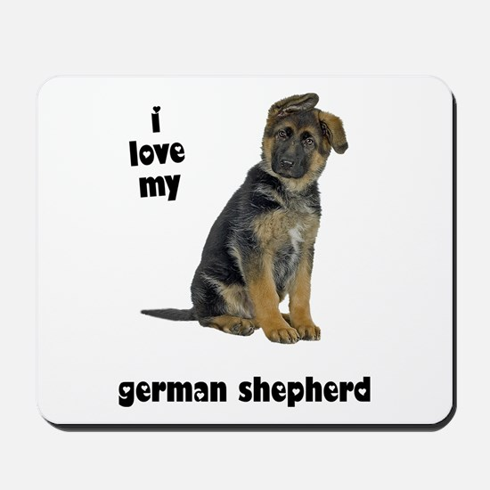 German Shepherd Love Mousepad