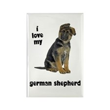 German Shepherd Love Rectangle Magnet