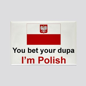 Polish Dupa Rectangle Magnet