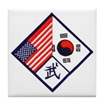Dual Flag & Moo Tile Coaster