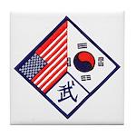 Dual Flag & Moo Tile Coaster